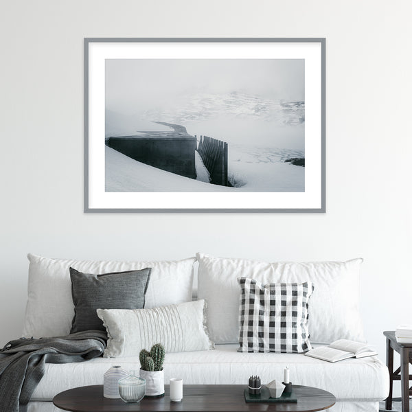 Dam Architecture at Lake Styggevatnet in Norway | Wall Art Print by Jan Erik Waider
