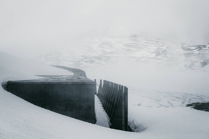 Dam Architecture at Lake Styggevatnet in Norway
