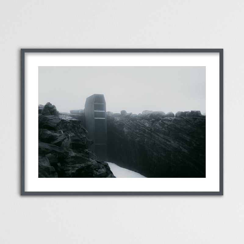 Abstract Architecture at Lake Styggevatnet | Framed Photo Print by Jan Erik Waider