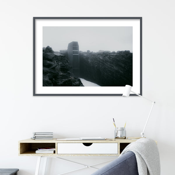 Abstract Architecture at Lake Styggevatnet | Wall Art Print by Jan Erik Waider