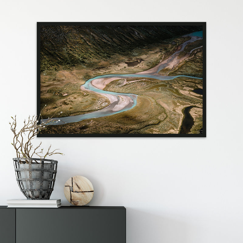 Aerial View of River in Jotunheimen National Park | Fine Art Photography Print by Northlandscapes