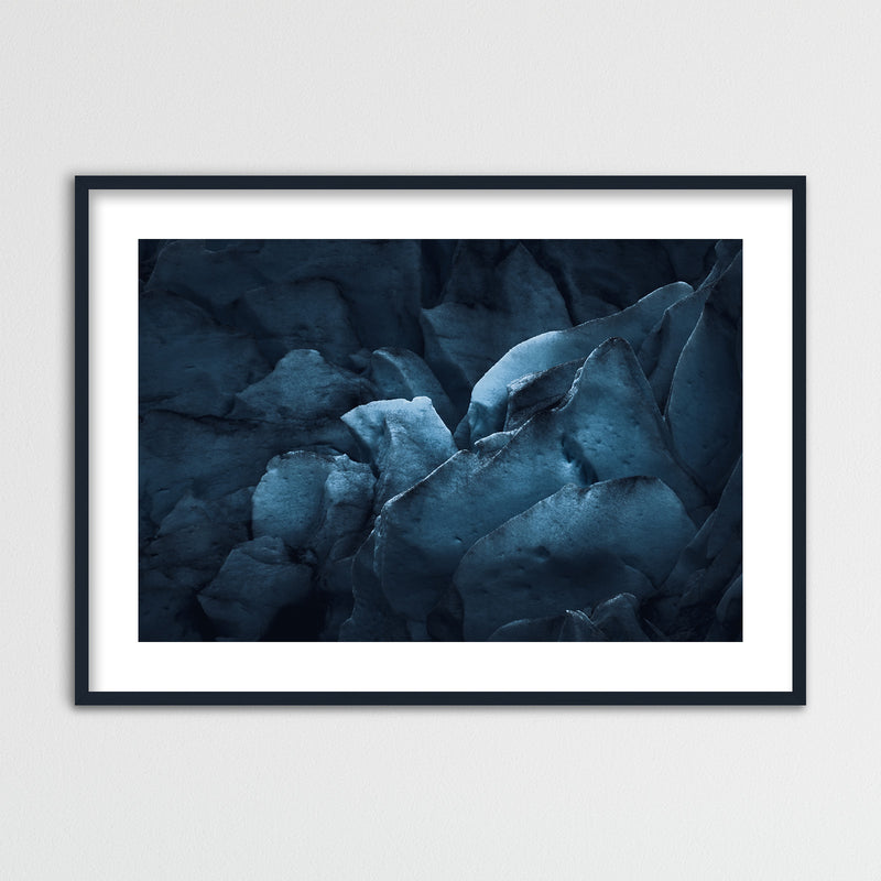 Dark Glacier Ice of Nigardsbreen | Framed Photo Print by Jan Erik Waider