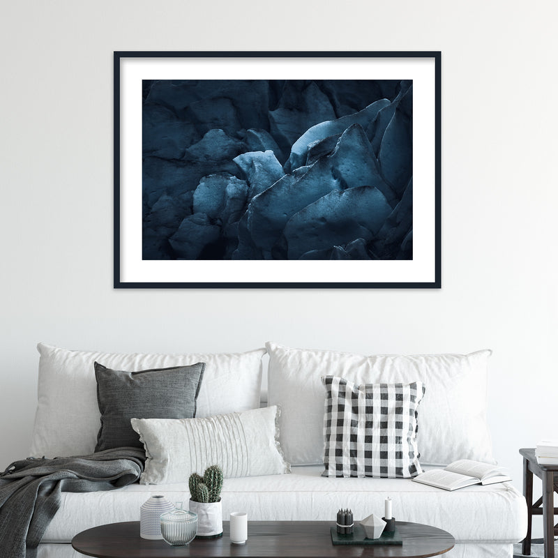 Dark Glacier Ice of Nigardsbreen | Wall Art Print by Jan Erik Waider