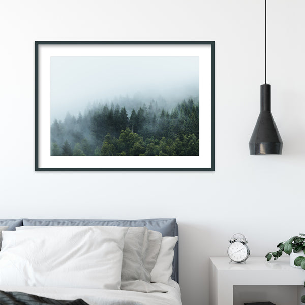 Moody Forest after the Rain | Wall Art Print by Jan Erik Waider