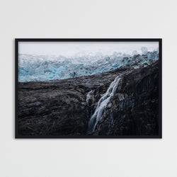 Waterfall and Glacier in Norway | Photography Print by Northlandscapes