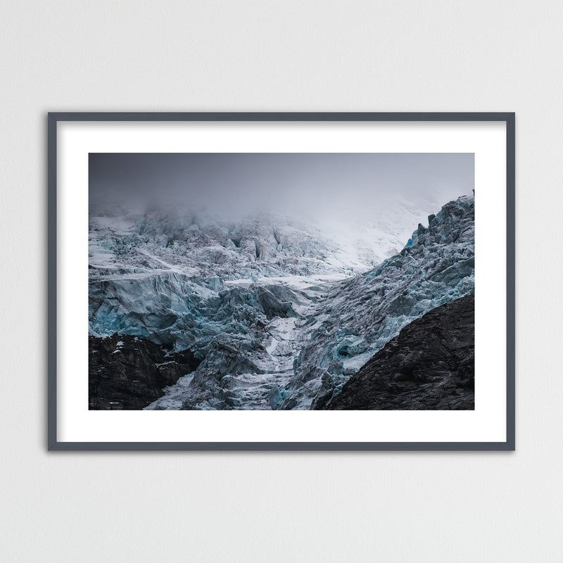 Dramatic Weather over Glacier in Norway | Framed Photo Print by Jan Erik Waider