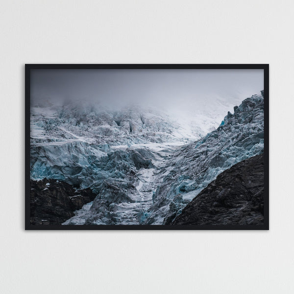 Dramatic Weather over Glacier in Norway | Photography Print by Northlandscapes