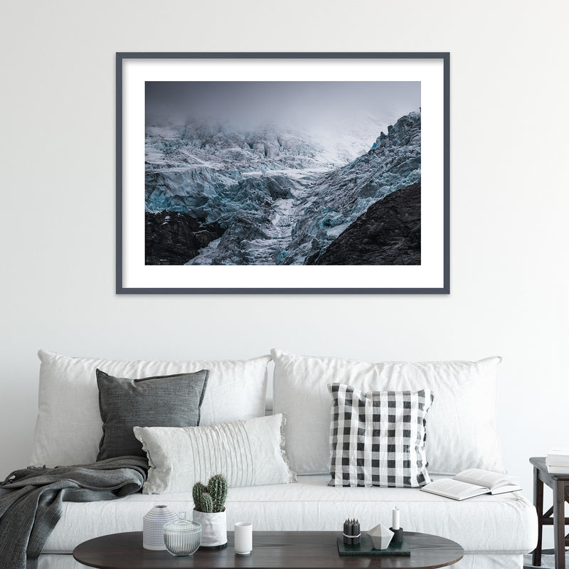Dramatic Weather over Glacier in Norway | Wall Art Print by Jan Erik Waider