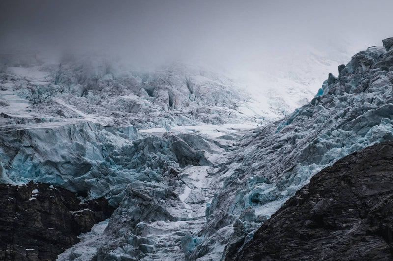 Dramatic Weather over Glacier in Norway
