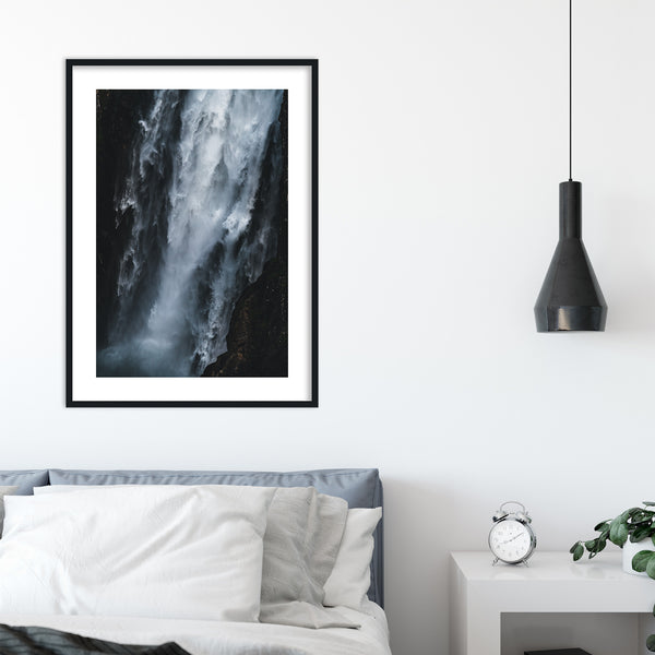 Abstract Vøringsfossen Waterfall in Norway | Wall Art Print by Jan Erik Waider