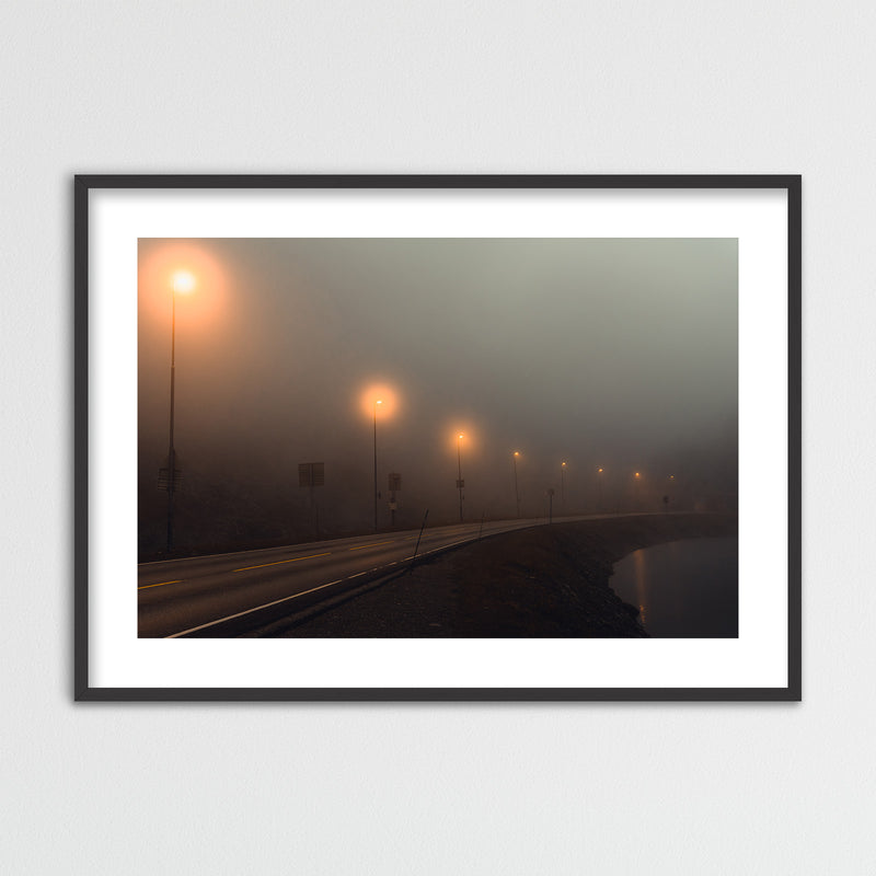 Foggy Mountain Pass in Norway | Framed Photo Print by Jan Erik Waider
