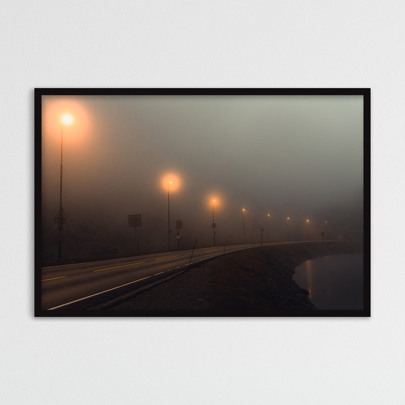 Foggy Mountain Pass in Norway | Photography Print by Northlandscapes