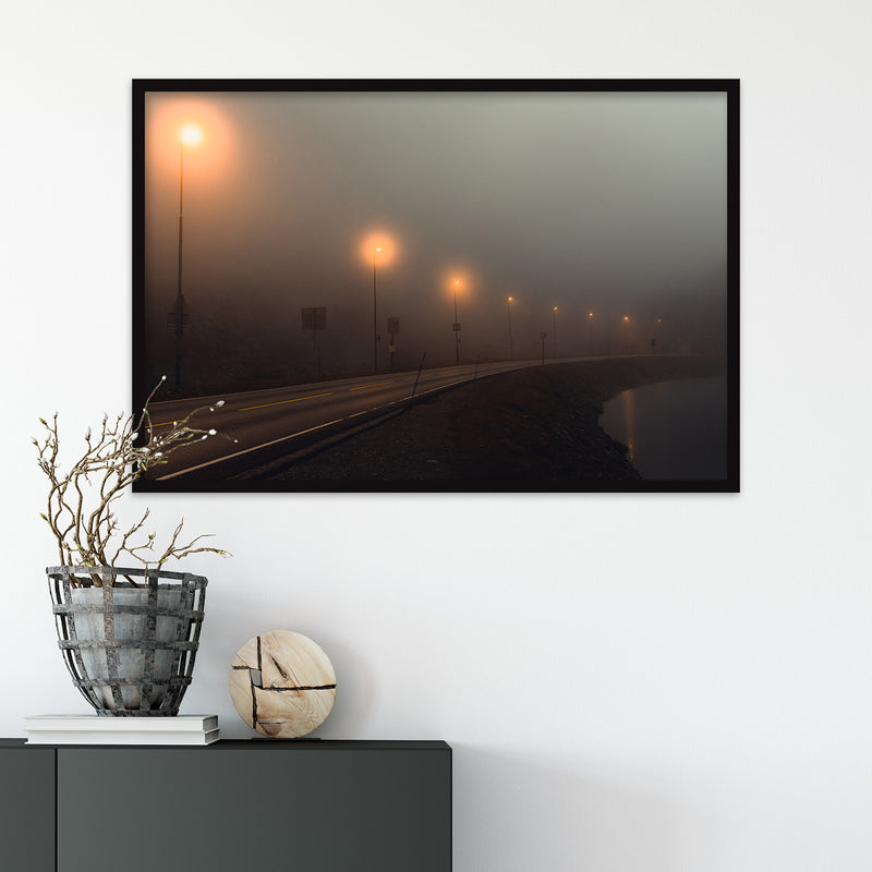 Foggy Mountain Pass in Norway | Fine Art Photography Print by Northlandscapes