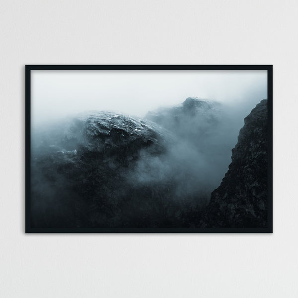 Dramatic Mountain in the Clouds, Norway | Photography Print by Northlandscapes
