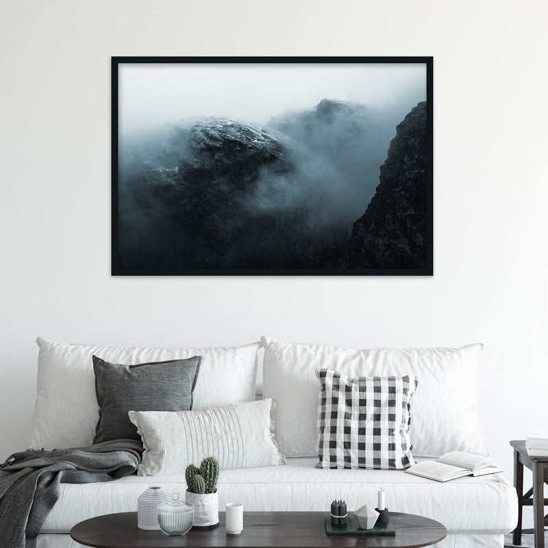 Dramatic Mountain in the Clouds, Norway | Fine Art Photography Print by Northlandscapes