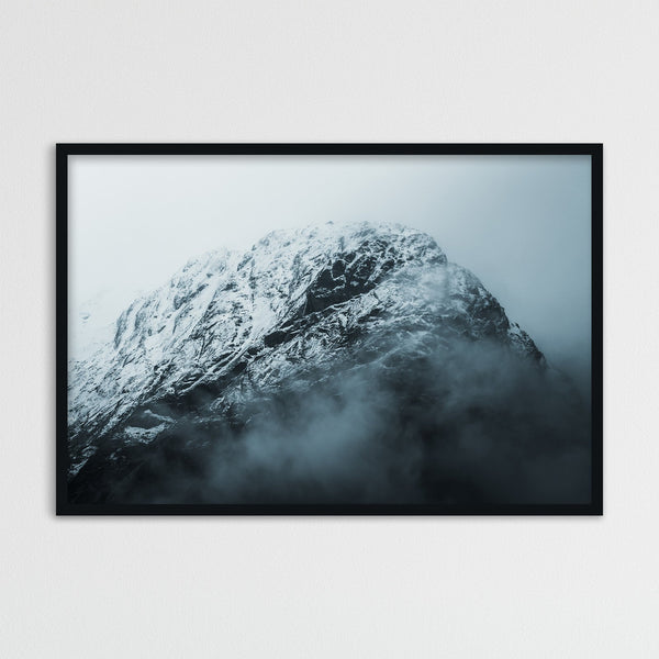 Snowy Mountain in the Clouds | Photography Print by Northlandscapes