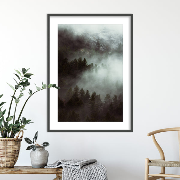Dramatic Autumn Weather over Forest | Wall Art Print by Jan Erik Waider