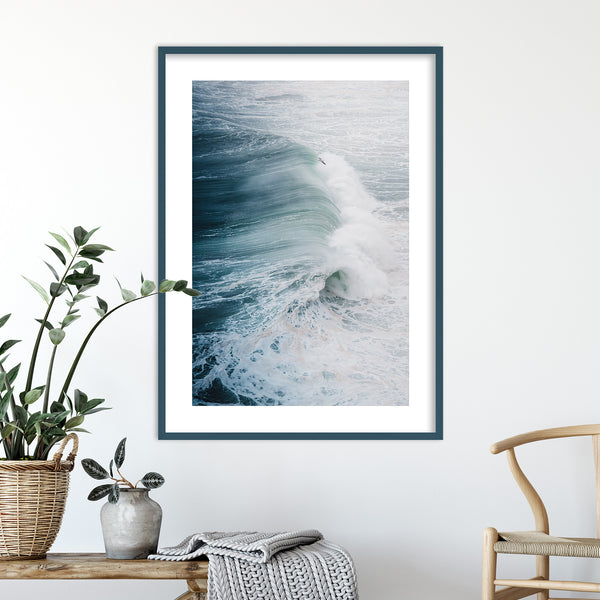 Atlantic Ocean Waves, Portugal | Wall Art Print by Jan Erik Waider