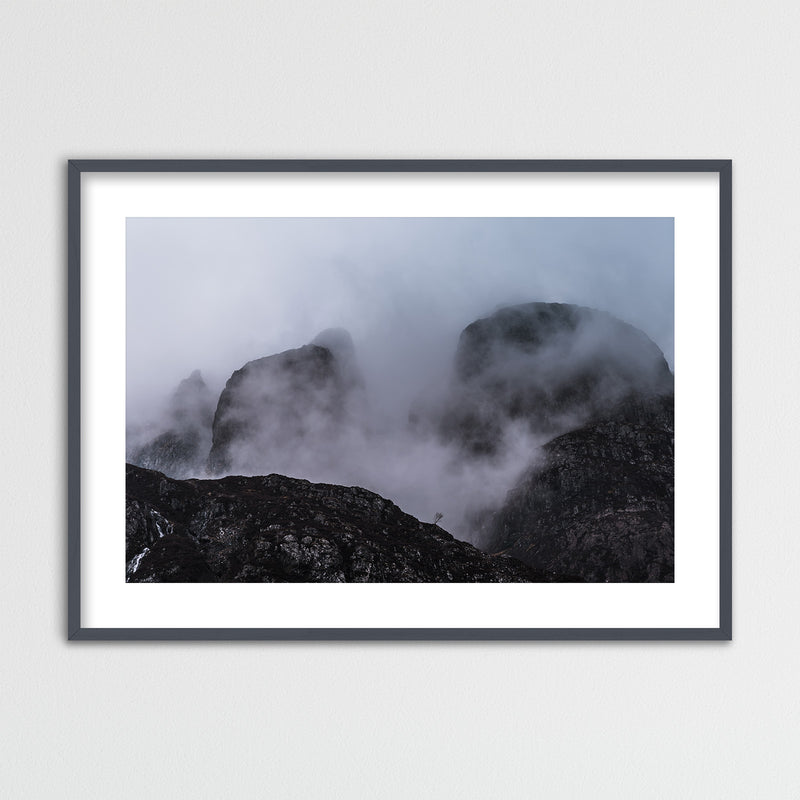 Aonach Eagach Ridge in the Highlands of Scotland | Framed Photo Print by Jan Erik Waider