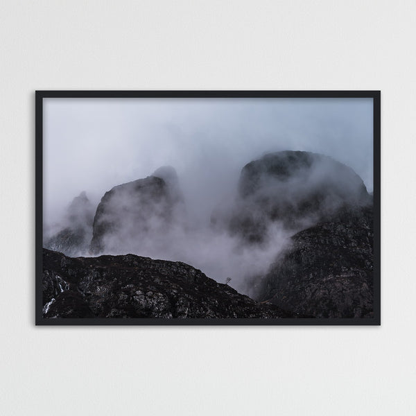 Aonach Eagach Ridge in the Highlands of Scotland | Photography Print by Northlandscapes