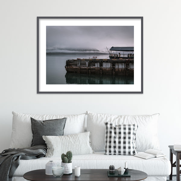 The Harbor of Pyramiden on Svalbard | Wall Art Print by Jan Erik Waider