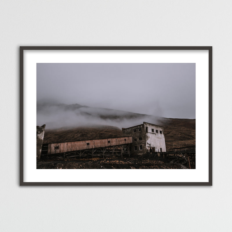 Abandoned Coal Mine of Pyramiden, Svalbard | Framed Photo Print by Jan Erik Waider