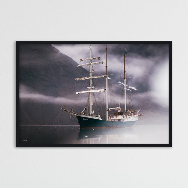 Sailing Ship between Clouds | Photography Print by Northlandscapes