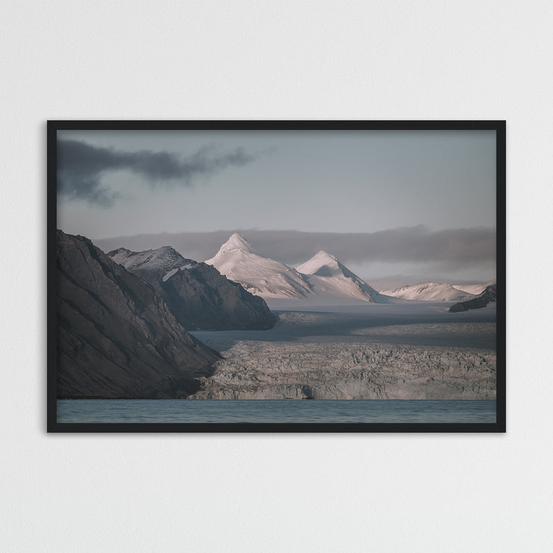 Snowy Mountain Peaks of Svalbard | Photography Print by Northlandscapes