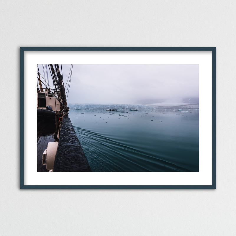 Sailing through Arctic Waters of Svalbard | Framed Photo Print by Jan Erik Waider