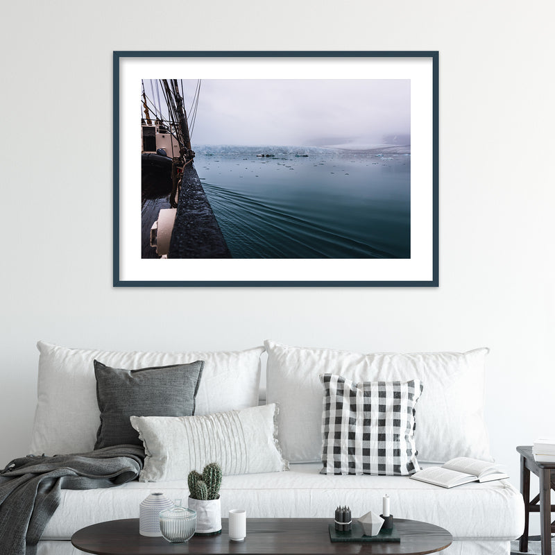 Sailing through Arctic Waters of Svalbard | Wall Art Print by Jan Erik Waider