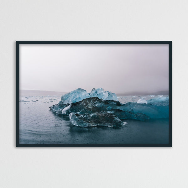 Blue Icebergs in Svalbard | Photography Print by Northlandscapes