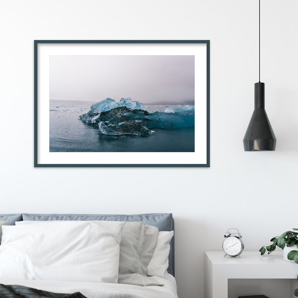 Blue Icebergs in Svalbard | Wall Art Print by Jan Erik Waider