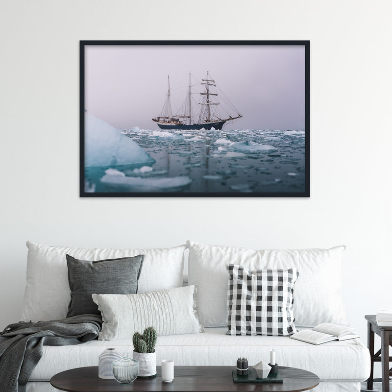 Classic Sailing Ship in the Arctic Waters of Svalbard | Fine Art Photography Print by Northlandscapes