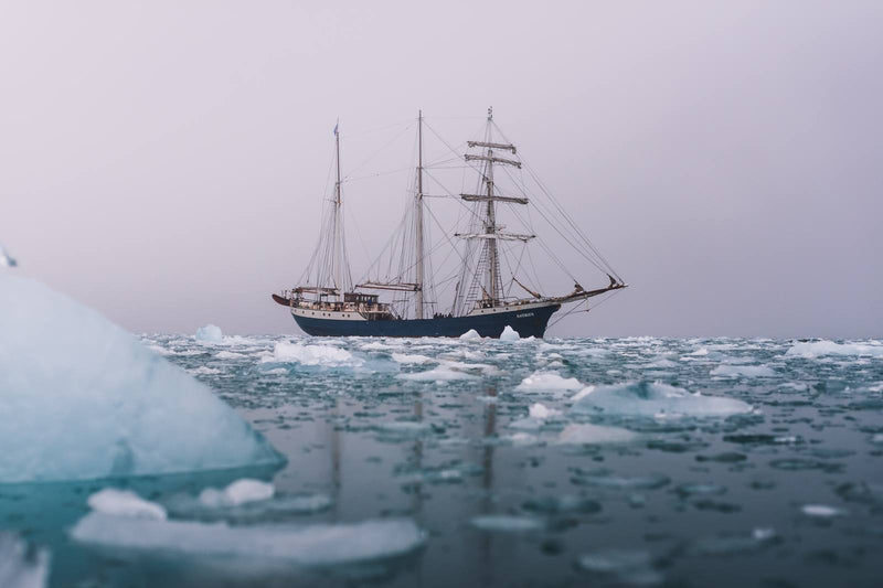 Classic Sailing Ship in the Arctic Waters of Svalbard