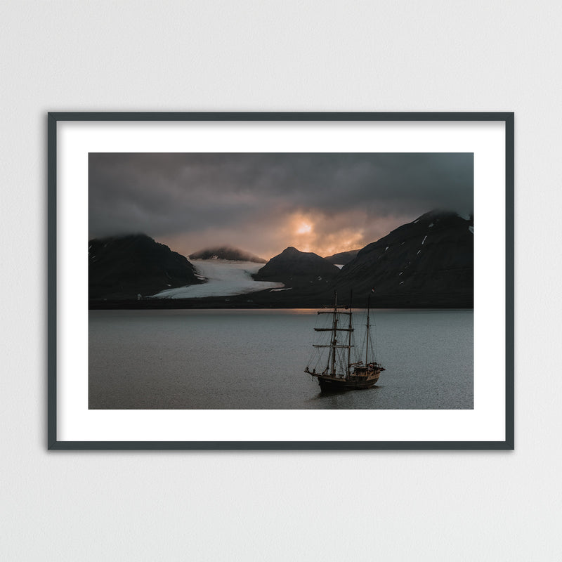 Warm Evening Light over Kongsfjord, Svalbard | Framed Photo Print by Jan Erik Waider
