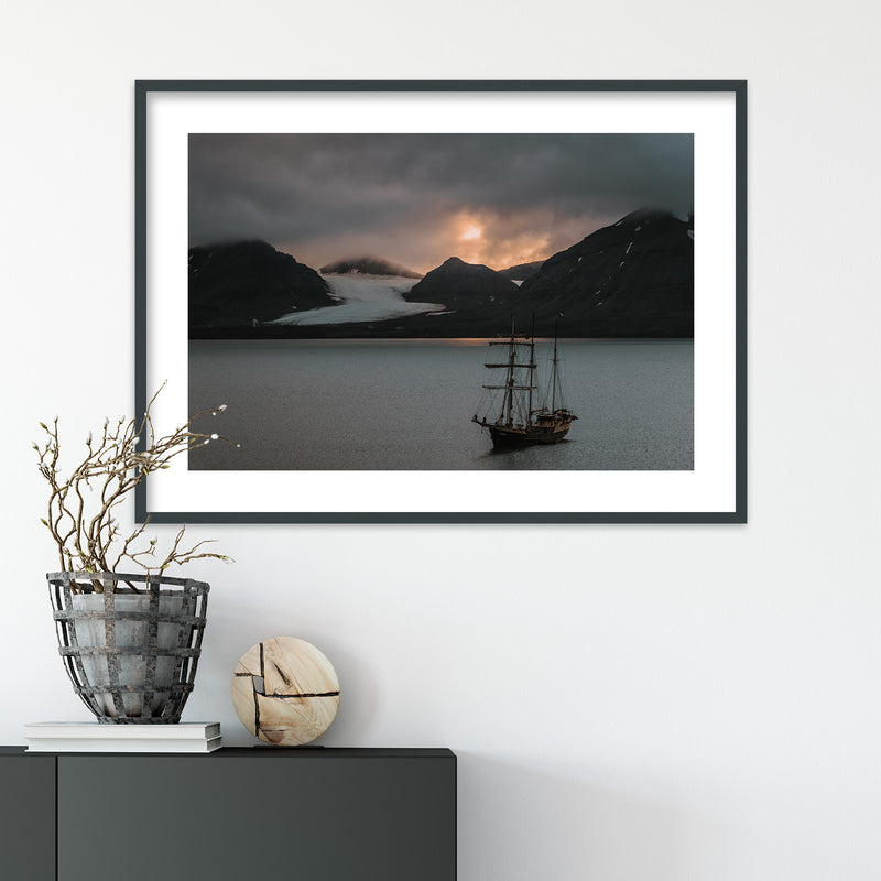 Warm Evening Light over Kongsfjord, Svalbard | Wall Art Print by Jan Erik Waider