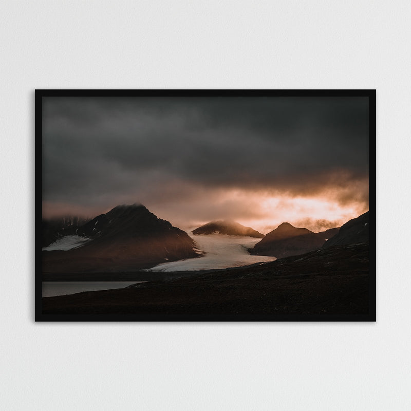 Sunset over Oscar II Land, Svalbard | Photography Print by Northlandscapes