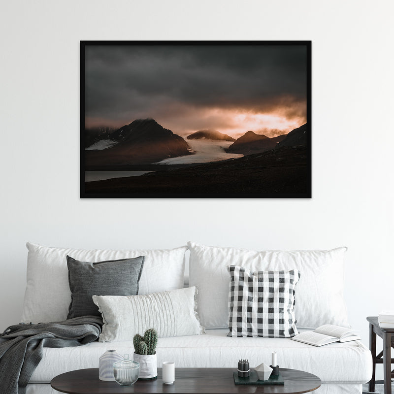 Sunset over Oscar II Land, Svalbard | Fine Art Photography Print by Northlandscapes