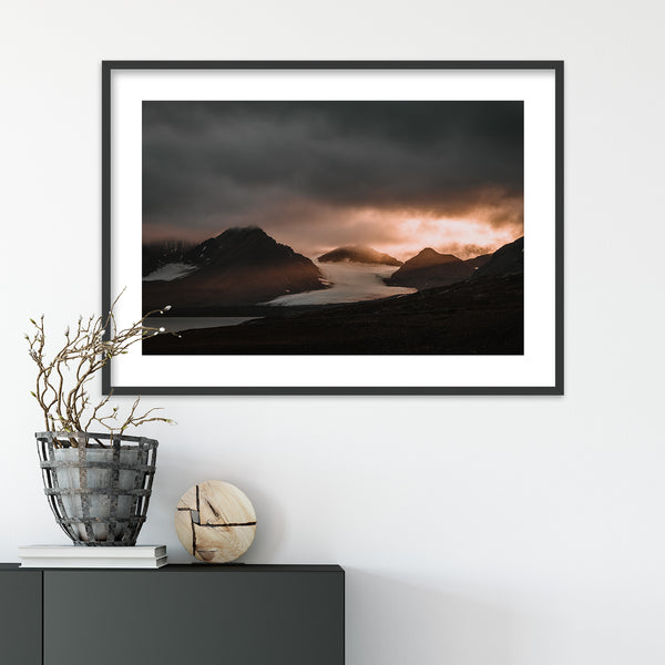 Sunset over Oscar II Land, Svalbard | Wall Art Print by Jan Erik Waider