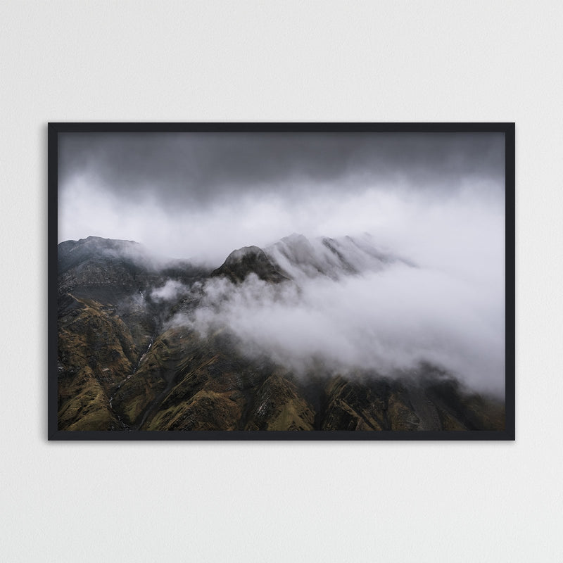 Clouds over Mountain Range in Spitsbergen, Svalbard | Photography Print by Northlandscapes