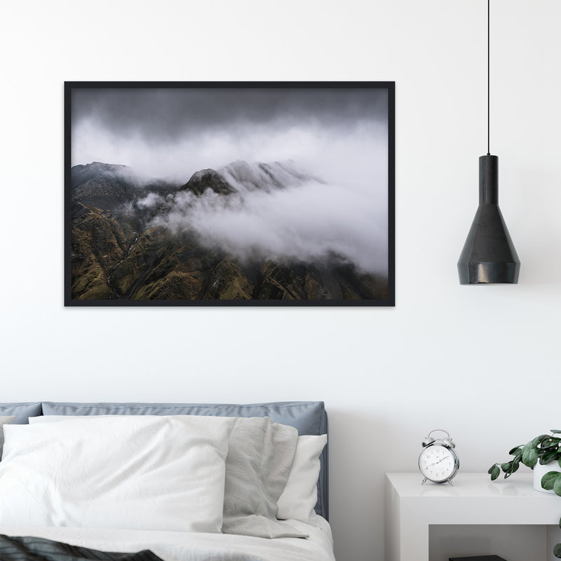 Clouds over Mountain Range in Spitsbergen, Svalbard | Fine Art Photography Print by Northlandscapes
