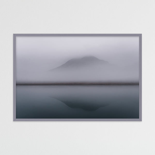 Minimalist Ocean and Mountain Scene | Photography Print by Northlandscapes