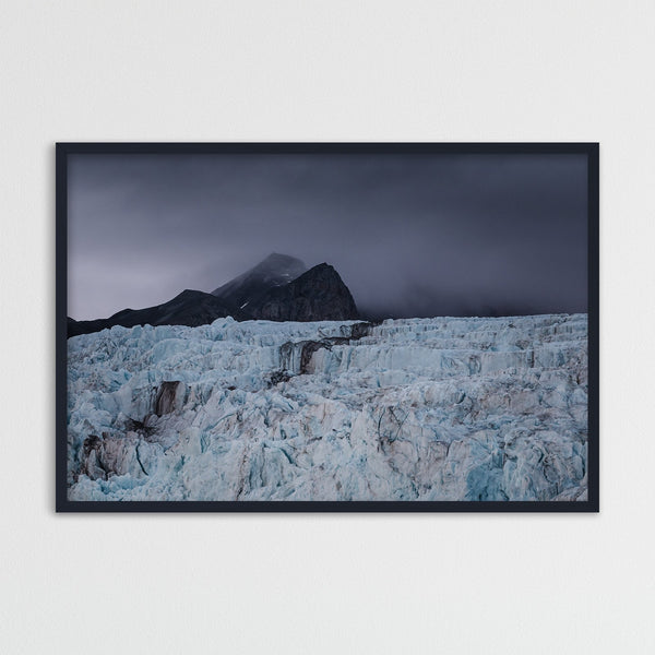Dark Clouds over a Glacier in Svalbard | Photography Print by Northlandscapes