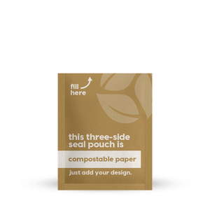 Compostable Paper 3 Side Seal 3.25 x 6.5 in / 83 x 165 mm (3SS3.25x6.5)