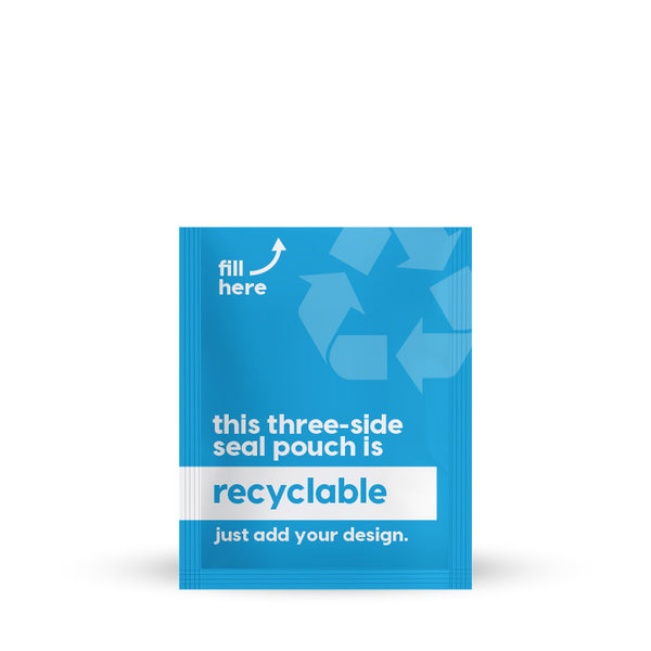 Recyclable 3 Side Seal 3.25 x 6.5 in / 83 x 165 mm (3SS3.25x6.5)