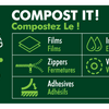 Thumbnail image of: Compostable Quad Seal 4.33 x 12.60 x 3.15 in / 110 x 320 x 80 mm (QS500)