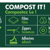 Thumbnail image of: Compostable Paper Quad Seal 3.94 x 12.20 x 2.76 in / 100 x 310 x 70 mm (QS340)