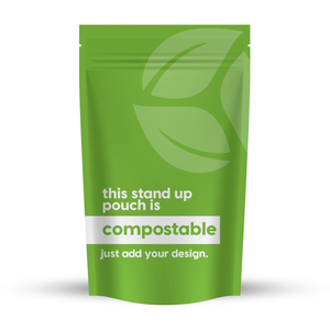 Compostable Stand-Up Pouch 12.52 x 14.02 x 5.51 in / 318 x 356 x 140 mm (SUP2)