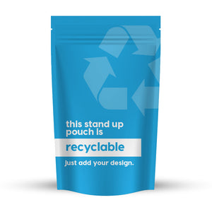 Recyclable Stand-Up Pouch 7.2 x 11.5 x 4 in / 183 x 292 x 102 mm (SUP500)