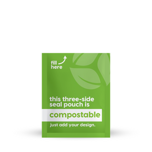 "Compostable 3 Side Seal 7.5"" x 9.50"""